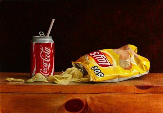Coca Cola And Lays Potato Chips